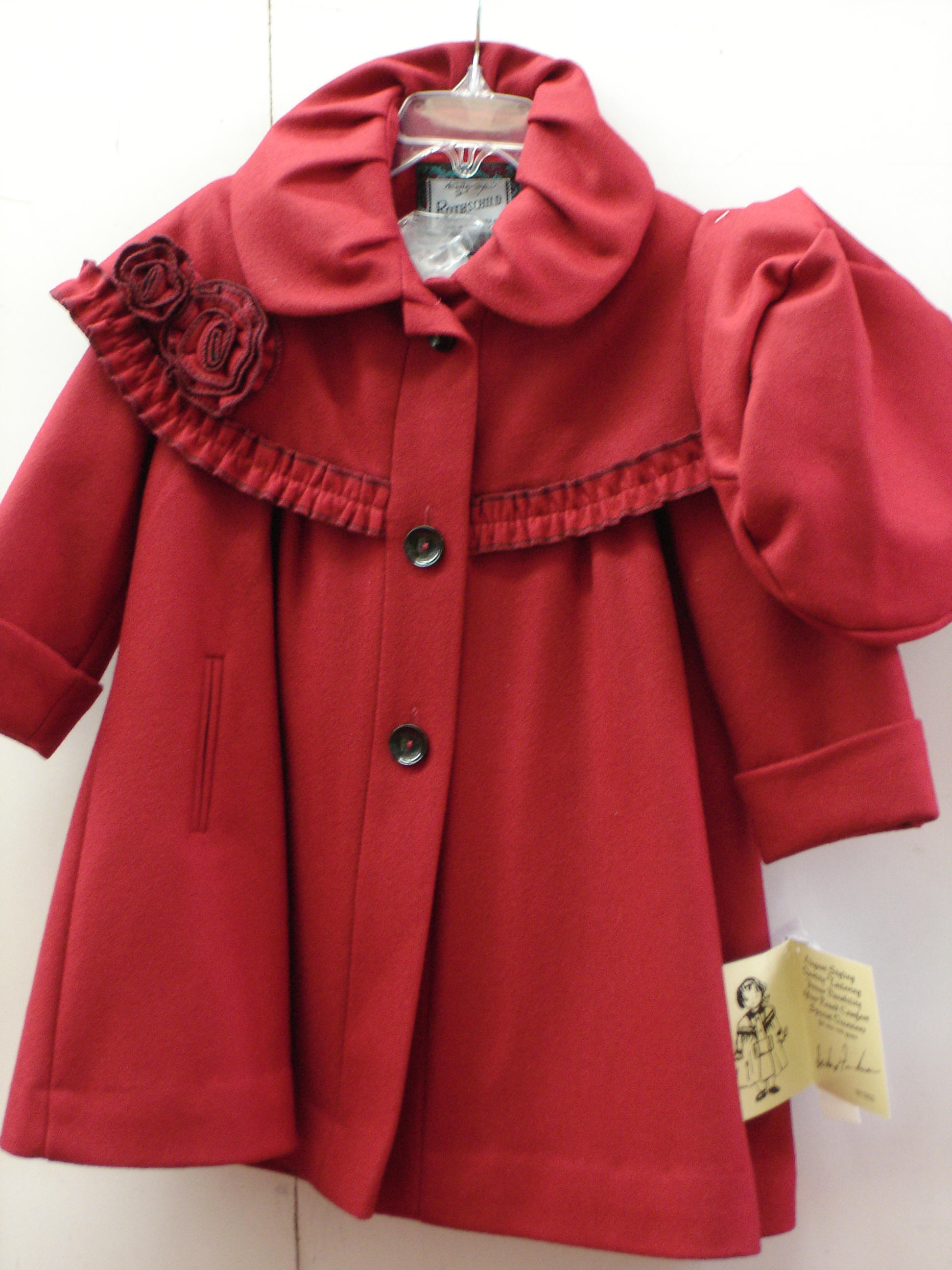 cc7678645875 This cute wool coat by Rothschild is offered in sizes T-2 thru T-4 and 4